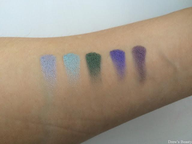 e-style chriscosmetics metallic show swatch paleta