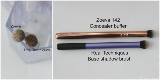 zoeva 142 concealer buffer real techniques base shadow brush štetec