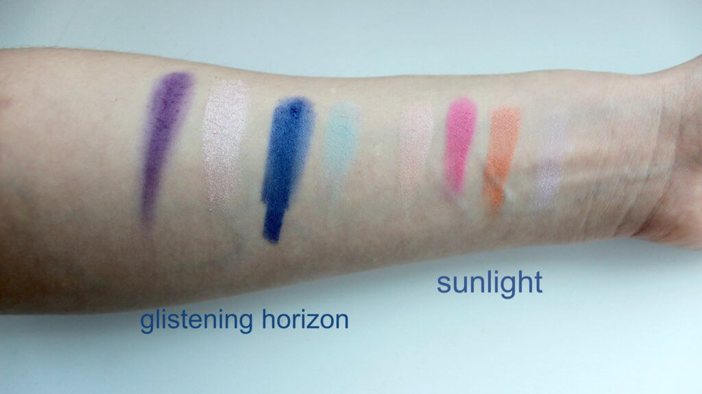 mary kay glistening horizon sunlight swatch stiny tiene